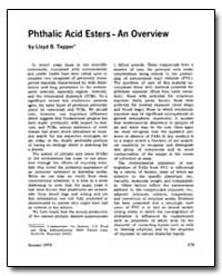 Phthalic Acid Esters - an Overview by Tepper, Lloyd B.