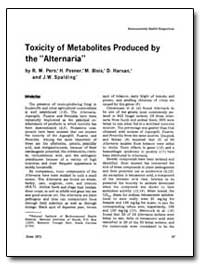 Toxicity of Metabolites Produced by the ... by Pero, R. W.