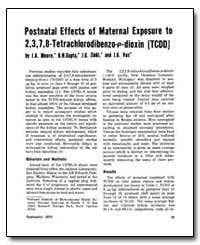 Postnatal Effects of Maternal Exposure t... by Moore, John A.