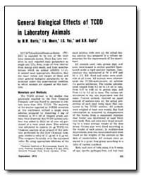 General Biological Effects of Tcdd in La... by Harris, M. W.