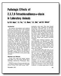 Pathologic Effects of 2,3,7,8,-Tetrachlo... by Gupta, B. N.