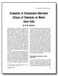 Evaluation of Chromosome Aberration Effe... by Generoso, W. M.