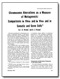 Chromosome Aberrations as a Measure of M... by Brewent, J. G.