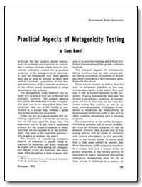 Practical Aspects of Mutagenicity Testin... by Ramel, Claes