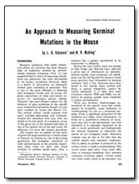 An Approach to Measuring Germinal Mutati... by Valcovic, Lawrence R.