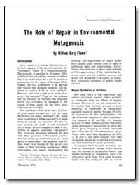 The Role of Repair in Environmental Muta... by Flamm, William Gary