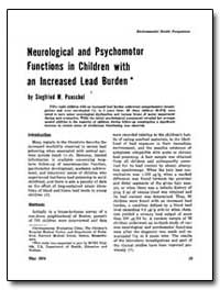 Neurological and Psychomotor Functions i... by Pueschel, Siegfried M.