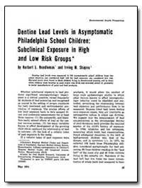 Dentine Lead Levels in Asymptomatic Phil... by Needleman, Herbert L.