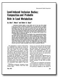 Lead-Induced Inclusion Bodies : Composit... by Moore, John F.