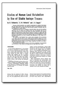 Ftaadies of Human Leal Ustrbe by Use of ... by Rabinowitz, Michael B.
