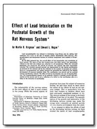 Effect of Lead Intoxication on the Postn... by Krigman, Martin R.