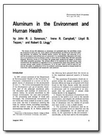 Aurninum in the Environment and Human He... by Sorenson, John R. J.