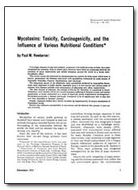 Mycotoxins : Toxicity, Carcinogenicity, ... by Newberne, Paul M.