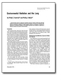 Environmental Radiation and the Lung by Hamrick, Philip E.