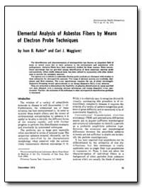 Elemental Analysis of Asbestos Fibers by... by Rubin, Ivan B.