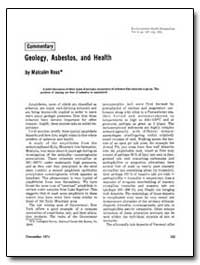 Geology, Asbestos, And Health by Ross, Malcolm
