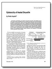Cytotoxicity of Heated Chrysotile by Hayashi, Hisato
