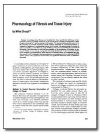 Pharmacology of Fibrosis and Tissue Inju... by Chvapil, Milos