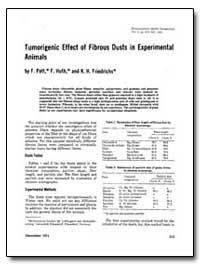 Tumorigenic Effect of Fibrous Dusts in E... by Pott, F.