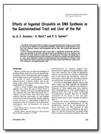 Effects of Ingested Chrysotile on Dna Sy... by Amacher, D. E.