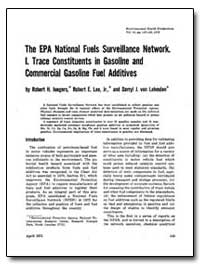 The Epa National Fuels Surveillance Netw... by Jungers, Robert H.