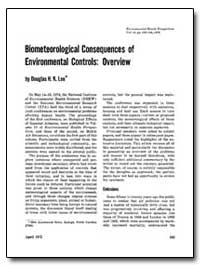 Biometeorological Consequences of Enviro... by Lee, Douglas H. K.
