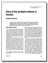 Effects of Time and Height on Behavior o... by Van Der Oven, Isaac