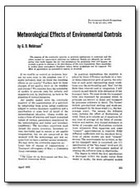 Meteorological Effects of Environmental ... by Robinson, G. D.