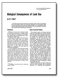 Biological Consequences of Land Use by Munn, R. E.
