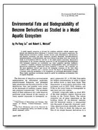 Environmental Fate and Biodegradability ... by Lu, Po-Yung