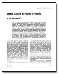 General Aspects in Polymer Synthesis by Reimschuessel, H. K.