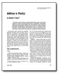 Additives in Plastics by Deanin, Rudolph D.
