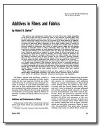 Additives in Fibers and Fabrics by Barke, Robert H.