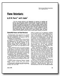 Flame Retardants by Pearce, Eli M.