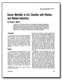 Cancer Mortality in U. S. Counties with ... by Mason, Thomas J.
