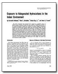 Exposure to Halogenated Hydrocarbons in ... by Bridbord, Kenneth