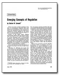 Emerging Concepts of Regulation by Samuels, Sheldon W.