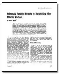 Pulmonary Function Defects in Nonsmoking... by Miller, Albert