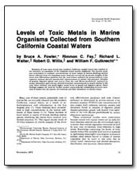 Levels of Toxic Metals in Marine Organis... by Fowler, Bruce A.