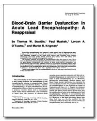 Blood-Brain Barrier Dysfunction in Acute... by Bouldin, Thomas W.