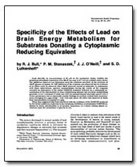 Specificity of the Effects of Lead on Br... by Bull, Richard J.