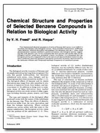 Chemical Structure and Properties of Sel... by Freed, V. H.