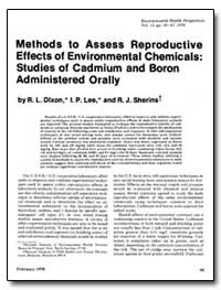 Methods to Assess Reproductive Effects o... by Dixon, Robert L.