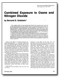 Combined Exposure to Ozone and Nitrogen ... by Goldstein, Bernard D.