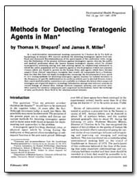 Methods for Detecting Teratogenic Agents... by Shepard, Thomas H.