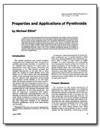 Properties and Applications of Pyrethroi... by Elliott, Michael