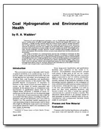 Coal Hydrogenation and Environmental Hea... by Wadden, R. A.