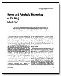 Normal and Pat Hologic Biochemistry of t... by Fisher, Aron B.