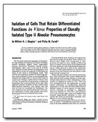 Isolation of Cells That Retain Different... by Douglas, William H. J.