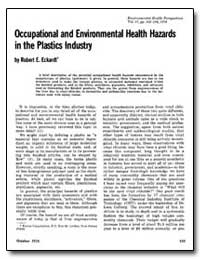 Occupational and Environmental Health Ha... by Eckardt, Robert E.